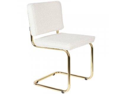Bílá látková jídelní židle ZUIVER TEDDY848x848