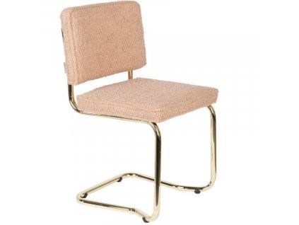 Růžová látková jídelní židle ZUIVER TEDDY KINK848x848 (3)
