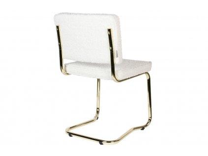 Bílá látková jídelní židle ZUIVER TEDDY KINK