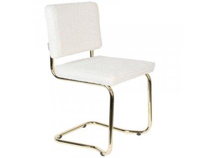 Bílá látková jídelní židle ZUIVER TEDDY KINK848x848 (1)