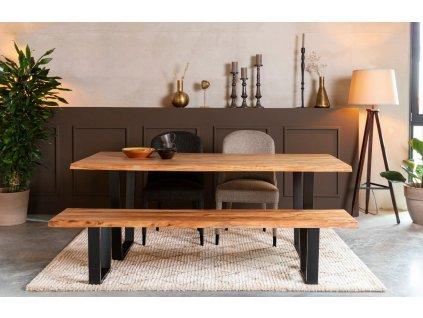 Masivní dřevěný jídelní stůl DUTCHBONE Aka 200 x 90 cm