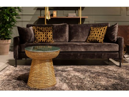 Zlatý kovový odkládací stolek DUTCHBONE GAURI 47 cm