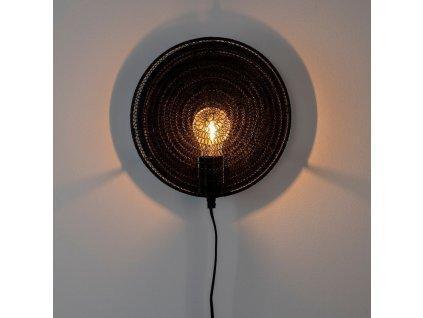 Černé kovové nástěnné světlo WLL LEA