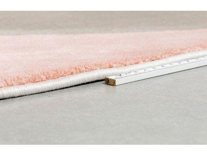 Růžovo šedý kulatý koberec ZUIVER HILTON 240 cm
