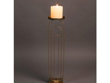 Zlatý kovový svícen DUTCHBONE PROA L