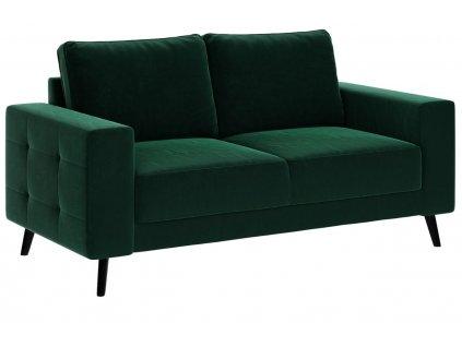 Tmavě zelená čalouněná dvoumístná pohovka Ghado Fynn 168 cm