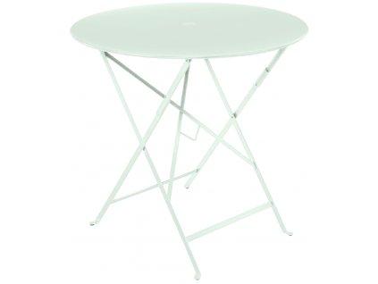 Mátově zelený kovový skládací stůl Fermob Bistro Ø 77 cm