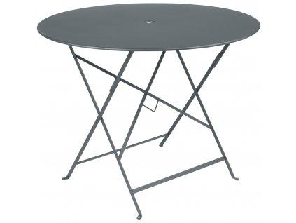 Šedý kovový skládací stůl Fermob Bistro Ø 96 cm