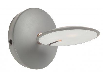 Šedá kovová nástěnná lampa LaForma Tannsy