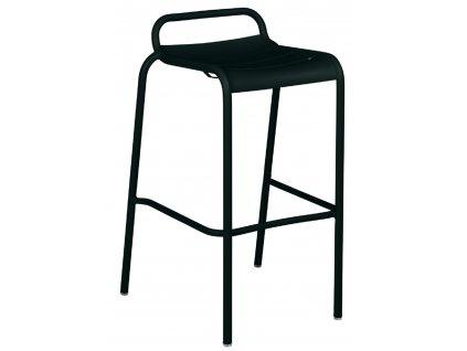 Černá kovová barová židle Fermob Luxembourg