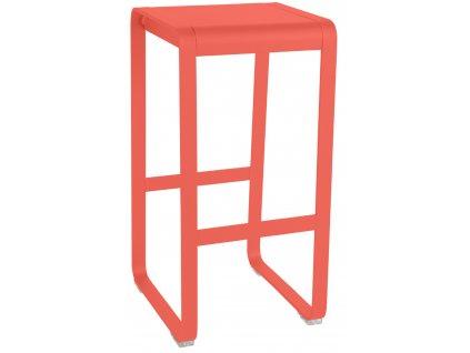 Oranžová kovová barová židle Fermob Bellevie
