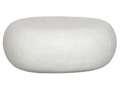 Bílý konferenční stolek Peblo 65x49 cm