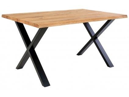 Přírodní dubový jídelní stůl Nordic Living Tolon 140x95 cm