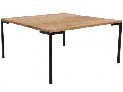 Přírodní dubový konferenční stolek Nordic Living Lugas 90x90 cm