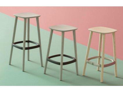 Bílá barová židle Babila 2706