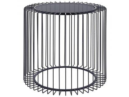 Černý kovový konferenční stolek Bizzotto Kieran 50 cm