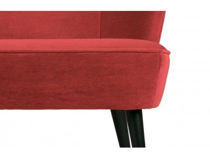 Malinově červená sametová pohovka Norma 110 cm