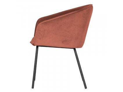Malinově růžová sametová jídelní židle Susan