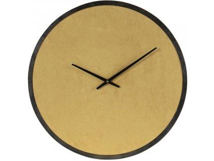 Zlaté sametové nástěnné hodiny Jessie 62 cm
