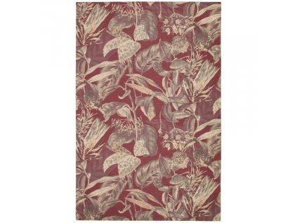 Kaštanově hnědý koberec Flowy 155 x 230 cm s květinovým vzorem848x848