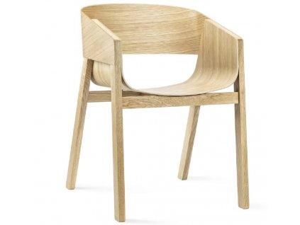 Dubová jídelní židle Ton Merano s područkami