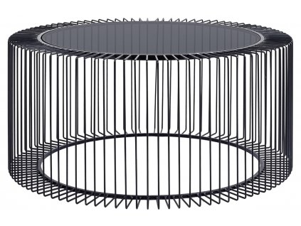 Černý kovový konferenční stolek Bizzotto Kieran 80 cm