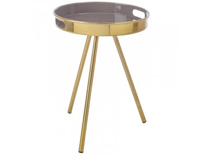Zlatý kulatý konferenční stolek Bizzotto Inesh 37,5 cm