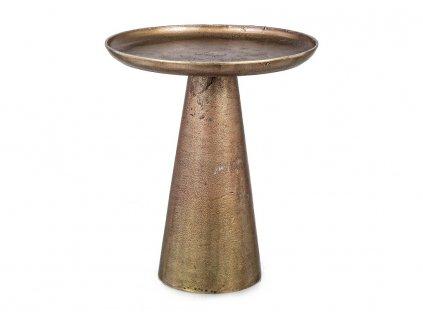 Zlatý konferenční stolek Bizzotto Kulvir 39 cm