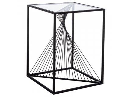 Černý kovový konferenční stolek Bizzotto Espiral 40x40 cm