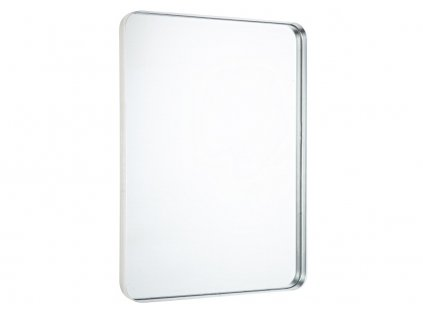 Stříbrné kovové závěsné zrcadlo Bizzotto Sile 40x55,5 cm