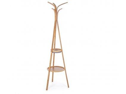 Přírodní dřevěný věšák Bizzotto Audrey 170 cm