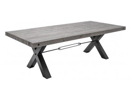 Šedý masivní jídelní stůl Terner 200x100 cm