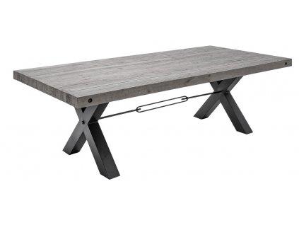 Šedý masivní jídelní stůl Terner 240x100 cm