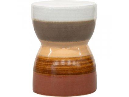 Pestrobarevná keramická stolička Demi 43 cm