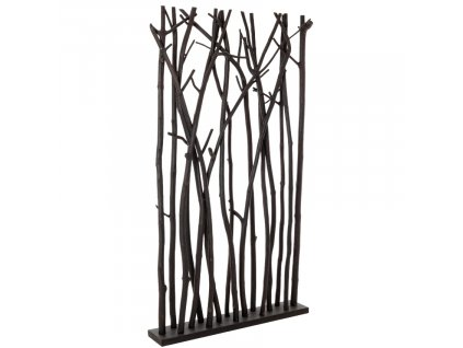 Černý dřevěný paraván Bizzotto Aili 180 cm