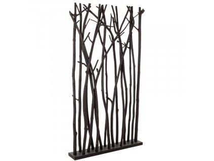 Černý dřevěný paraván Bizzotto Alini 180 cm