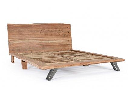 Masivní akátová postel Bizzotto Aron 180x200 cm