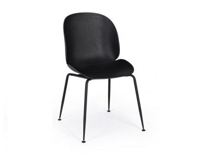Černá plastová jídelní židle Bizzotto Antigone