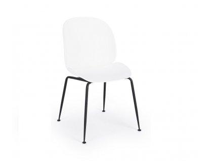 Bílá plastová jídelní židle Bizzotto Antigone