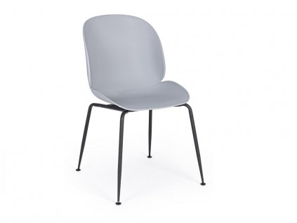 Šedá plastová jídelní židle Bizzotto Antigone