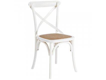 Bílá dřevěná jídelní židle Bizzotto Gross