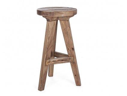 Masivní dřevěná barová židle Bizzotto Ellison 70 cm