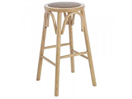 Přírodní dřevěná barová židle Bizzotto Circle 73 cm