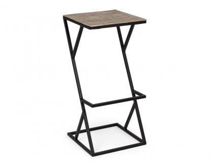 Zlatá kovová barová židle Bizzotto Ismail 78 cm