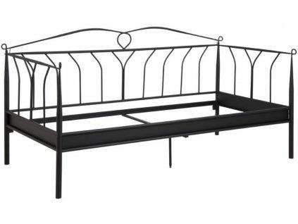 Černá kovová postel Oli 90x200 cm
