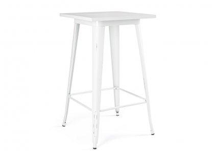 Bílý kovový barový stůl Bizzotto Minnesota 60x60 cm