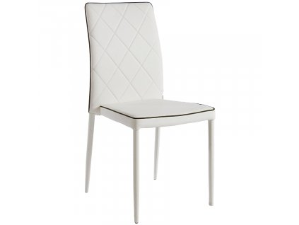 Bílá čalouněná jídelní židle Bizzotto Achille