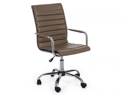 Hnědá kožená kancelářská židle Bizzotto Perth