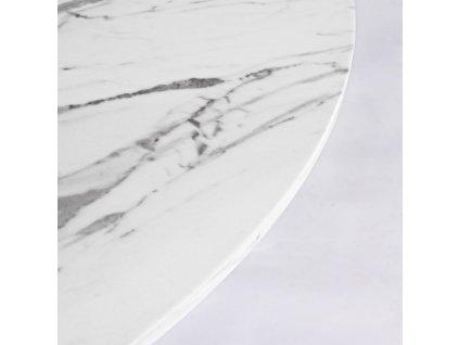 Bílý mramorový jídelní stůl Bizzotto George 110 cm