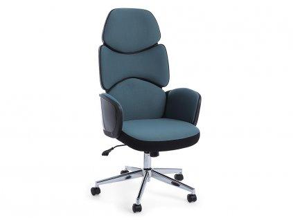 Modrá čalouněná kancelářská židle Bizzotto Armstrong